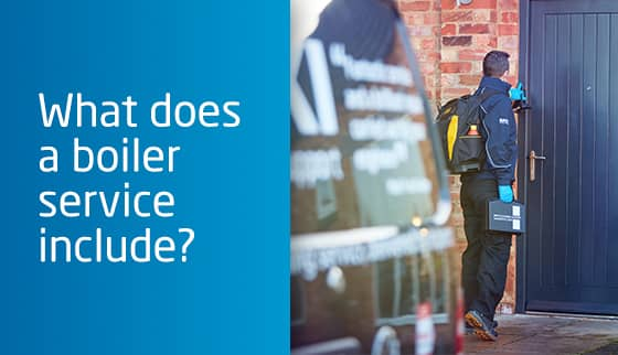 What does a boiler service include?
