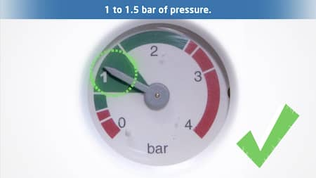 How do I top up my water pressure?