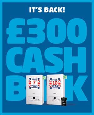 It's back! £300 cash back