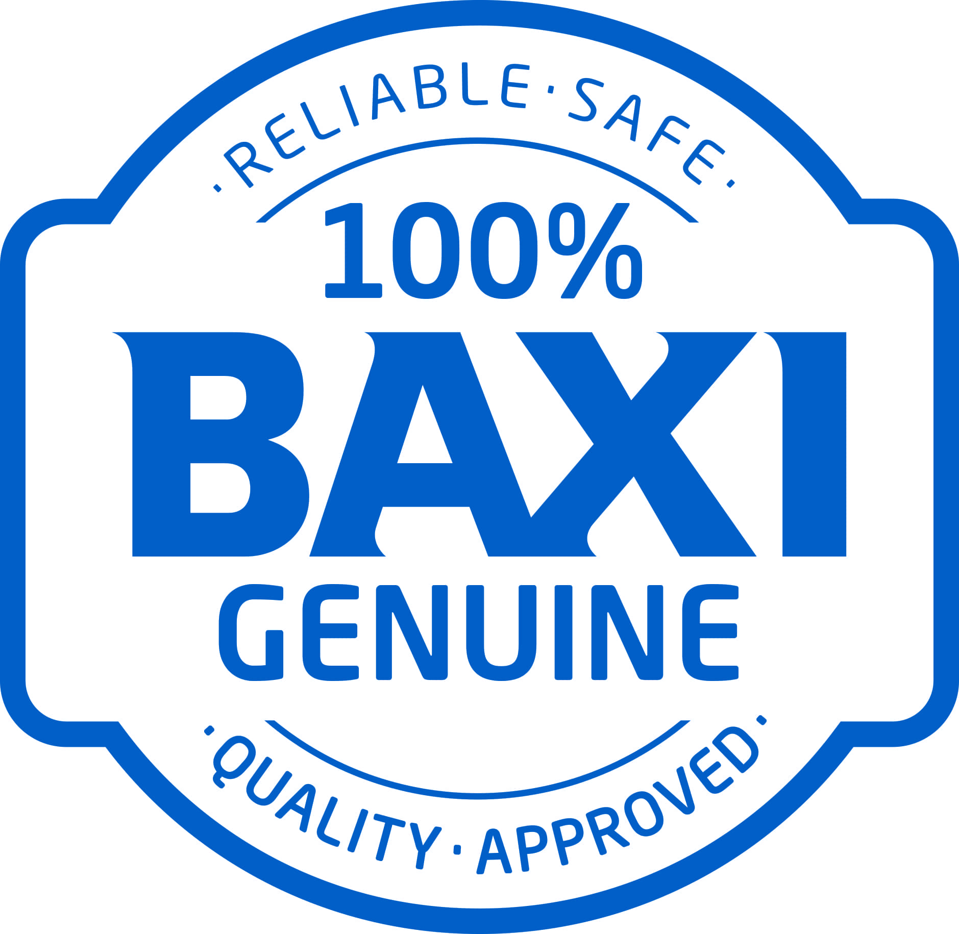 Baxi Genuine Parts stamp