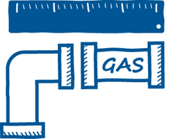 Calculate the single drop gas pipe size for your next project with the Baxi Toolbelt app