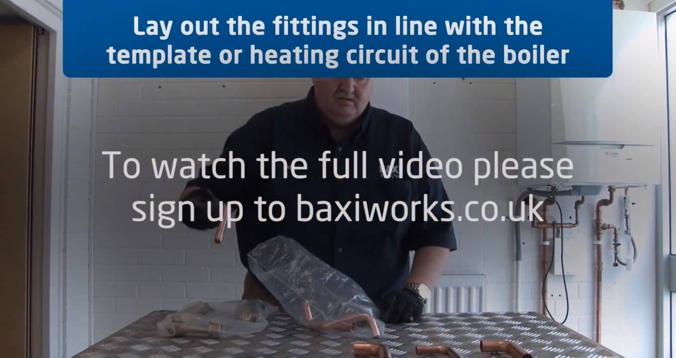 Assembling the taps on a Baxi 200 and 400 Combi